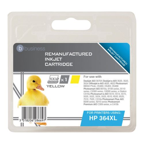 Business Remanufactured Inkjet Cartridge Page Life 750pp Yellow [HP No. 364XL CB325EE Alternative]