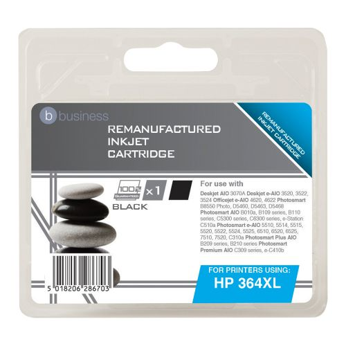 Business Remanufactured Inkjet Cartridge Page Life 550pp Black [HP No. 364XL CN684EE Alternative]