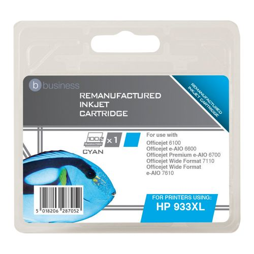 Business Remanufactured Inkjet Cartridge Page Life 925pp Cyan [HP No. 933XL CN054AE Alternative]