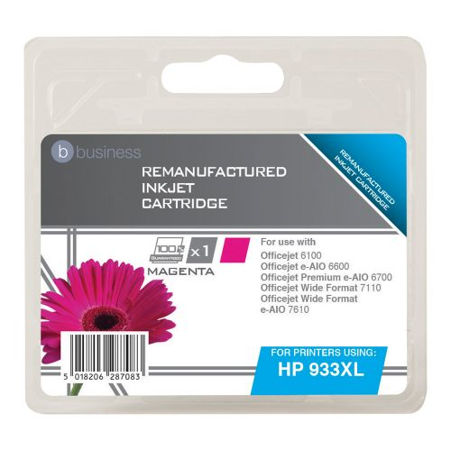 Business Remanufactured Inkjet Cartridge Page Life 925pp Magenta [HP No. 933XL CN055AE Alternative]