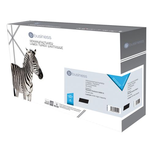 Business Remanufactured Laser Toner Cartridge 10000pp Black [HP No. 61X C8061X Alternative]