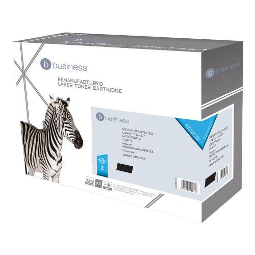 Business Remanufactured Laser Toner Cartridge 6000pp Black [HP No. 11A Q6511A Alternative]