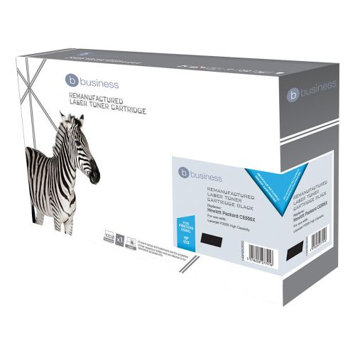Business Remanufactured Laser Toner Cartridge 6500pp Black [HP No. 05X CE505X Alternative]