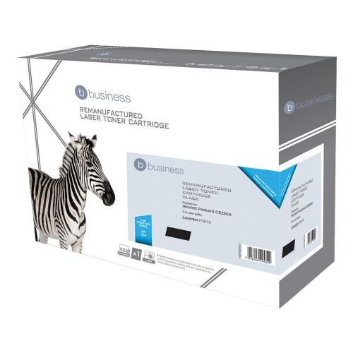 Business Remanufactured Laser Toner Cartridge 6000pp Black [HP No. 55A CE255A Alternative]