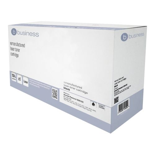 Business Remanufactured Laser Toner Cartridge 4000pp Black [HP No. 12A Q2612X Alternative]