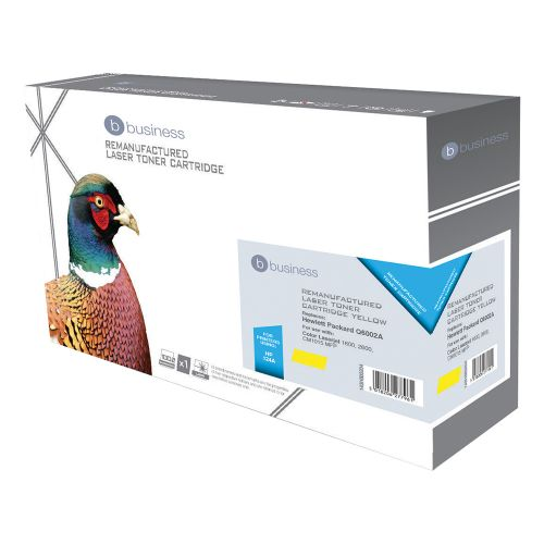 Business Remanufactured Laser Toner Cartridge 2000pp Yellow [HP No. 124A Q6002A Alternative]