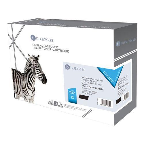 Business Remanufactured Laser Toner Cartridge 1600pp Black [HP No. 85A CE285A Alternative]