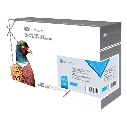 Business Remanufactured Laser Toner Cartridge 2800pp Cyan [HP No. 304A CC531A Alternative]