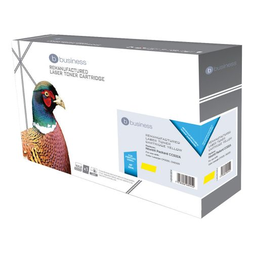 Business Remanufactured Laser Toner Cartridge 2800pp Yellow [HP No. 304A CC532A Alternative]