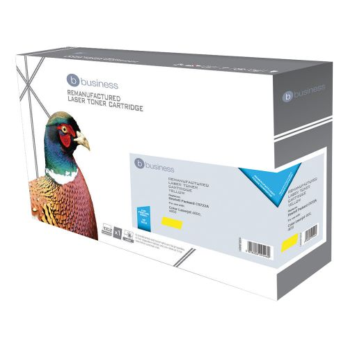 Business Remanufactured Laser Toner Cartridge 8000pp Yellow [HP No. 641A C9722A Alternative]