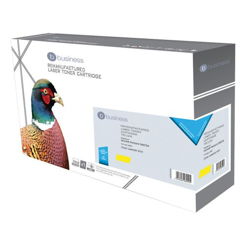 Business Remanufactured Laser Toner Cartridge 4000pp Yellow [HP No. 502A Q6472A Alternative]