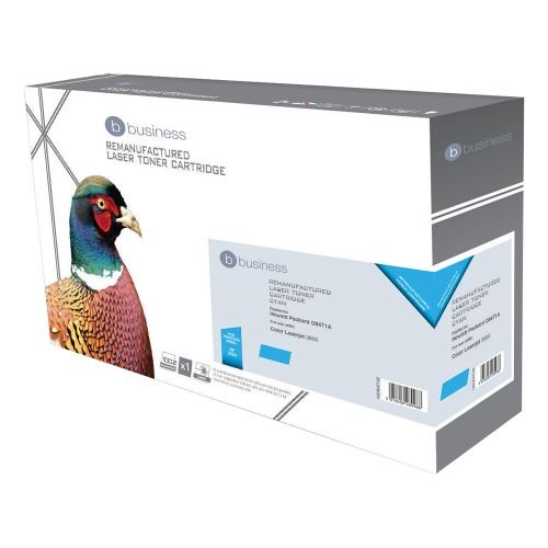 Business Remanufactured Laser Toner Cartridge 4000pp Cyan [HP No. 502A Q6471A Alternative]