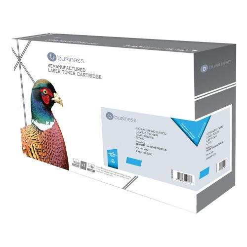 Business Remanufactured Laser Toner Cartridge 10000pp Cyan [HP No. 643A Q5951A Alternative]