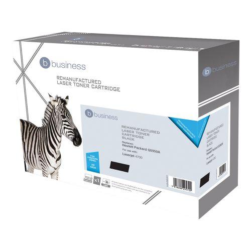 Business Remanufactured Laser Toner Cartridge 11000pp Black [HP No. 643A Q5950A Alternative]
