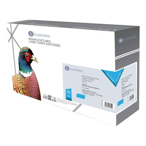 Business Remanufactured Laser Toner Cartridge 7000pp Cyan [HP No. 504A CE251A Alternative]