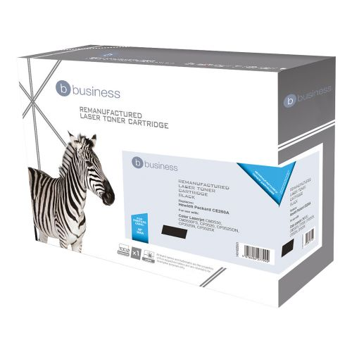 Business Remanufactured Laser Toner Cartridge 5000pp Black [HP No. 504A CE250A Alternative]
