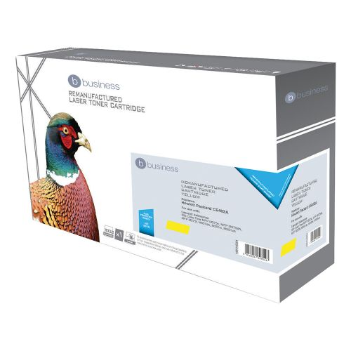 Business Remanufactured Laser Toner Cartridge 6000pp Yellow [HP No. 507A CE402A Alternative]