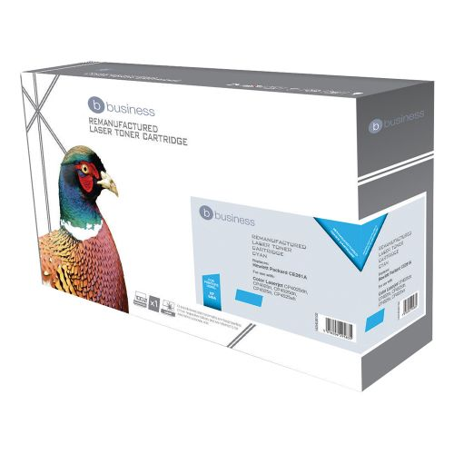 Business Remanufactured Laser Toner Cartridge 11000pp Cyan [HP No. 648A CE261A Alternative]