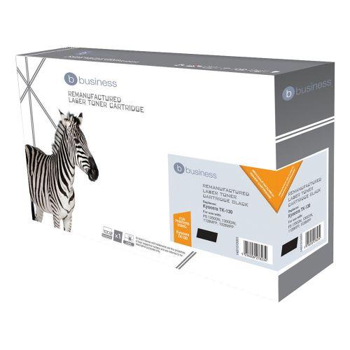Business Remanufactured Laser Toner Cartridge Page Life 7200pp Black [Kyocera TK-130 Alternative]