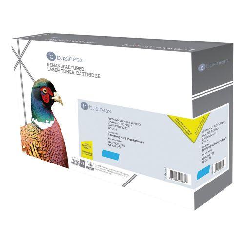 Business Remanufactured Laser Toner Cartridge 1000pp Cyan [Samsung CLT-Y4072S Alternative]