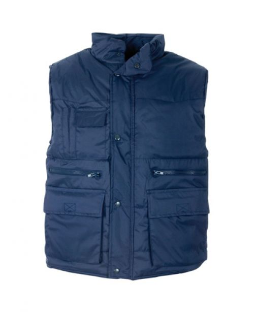 ST Body Warmer Polyester with Padding & Multi Pockets Small Navy Ref 58691 *Approx 3 Day Leadtime*