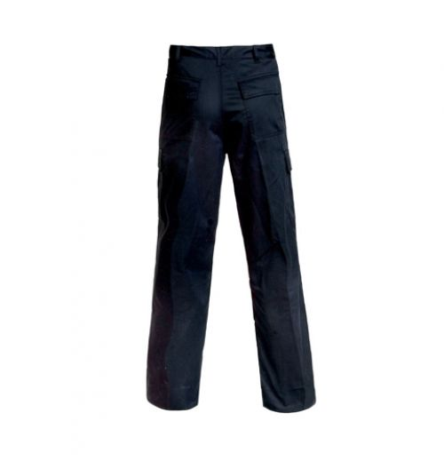 Supertouch Combat Trousers Polycotton with Pockets Tall Black 36inch Ref 18KA5 *Approx 3 Day Leadtime*