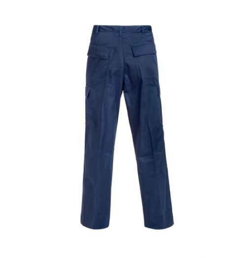 Supertouch Combat Trousers Polycotton with Pockets Regular Navy 40inch Ref 18JN7 *Approx 3 Day Leadtime*