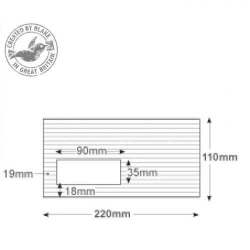 Blake Premium Envelope Wallet Window Peel & Seal 120gsm High White DL [Pack 500] Ref 39884