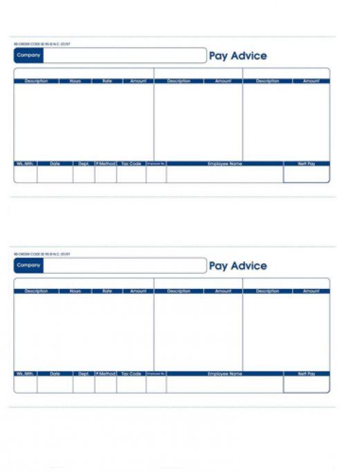 399477 Sage Compatible Pay Advice Laser or Inkjet A4 Sheet