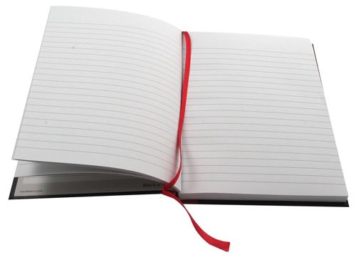 Black n Red Book Casebound Recycled 90gsm 192pp A5 Ref 100080430 [Pack 5]