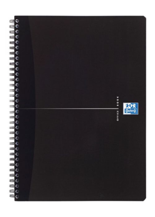 Oxford Office Notebook Wirebound Polypropylene Ruled 180pp 90gsm A5 Smart Black Ref 100103627 [Pack 5]