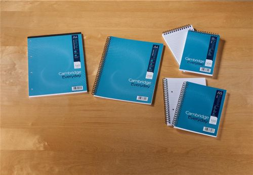 Cambridge Notebook Wirebound Punched Perforated Ruled & Margin 60gsm 200pp A4 Ref 100080433 [Pack 3]