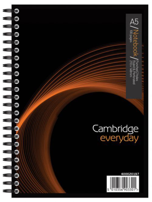 Cambridge Jotter Notebook Wirebound 80gsm Ruled 200pp A5 Ref 400039063 [Pack 3]