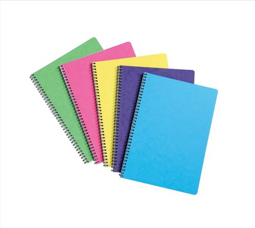 Europa Notebook Twinwire Sidebound Ruled 90gsm 120pp Micro-perforated A4 Assorted Ref 3154Z [Pack 10]
