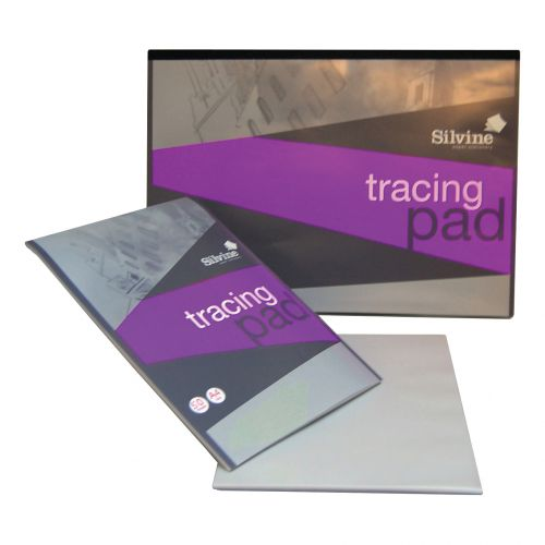 Silvine Professional Tracing Pad Acid Free Paper 90gsm 50 Sheets A4