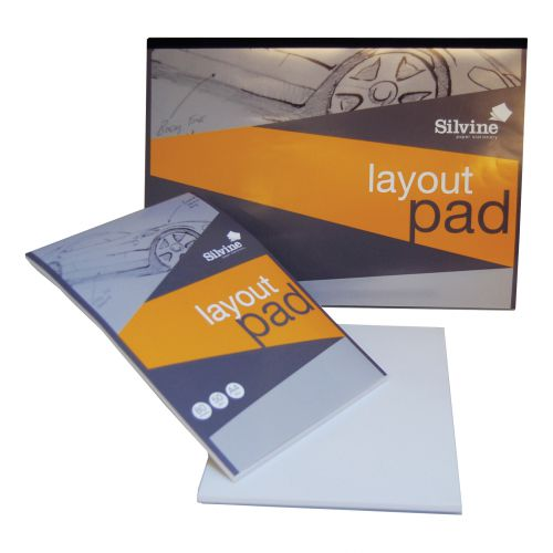 Silvine Layout Pad Bank Paper Acid Free 50gsm 50 Sheets A3