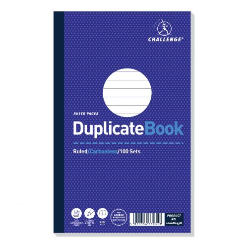 Challenge Duplicate Book Carbonless Ruled 100 Sets 210x130mm Ref 100080458 [Pack 5]
