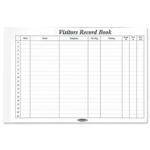 Concord CD14P Refill for Visitors Book 50 Sheets 2000 Entries 230x355mm Ref 85801