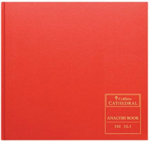 Collins Cathedral Analysis Book 150 Series 4 Debit 16 Credit 96 Pages 297x315mm Ref 150/4/16.1