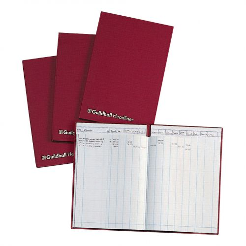 Guildhall Headliner Account Book 58 Series 4/16 Petty Cash Column 80 Pages 298x305mm Ref 58/4-16Z
