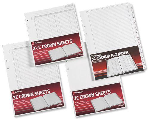 Twinlock 3C Crown Plain Sheets Ref 75840 [Pack 100]
