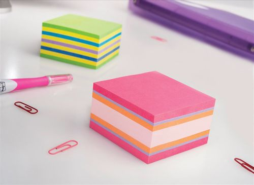 Post-it Note Cube Pad of 450 Sheets 76x76mm Neon Assorted Ref 2028 NP