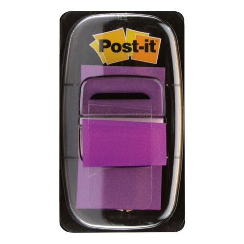Post-it Index Flags 50 per Pack 25mm Purple Ref 680-8 [Pack 12]