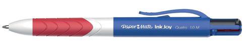 Paper Mate Inkjoy Pen Quatro Medium 1.0mm Tip 4-Colour Ref S0977260 [Pack 12]
