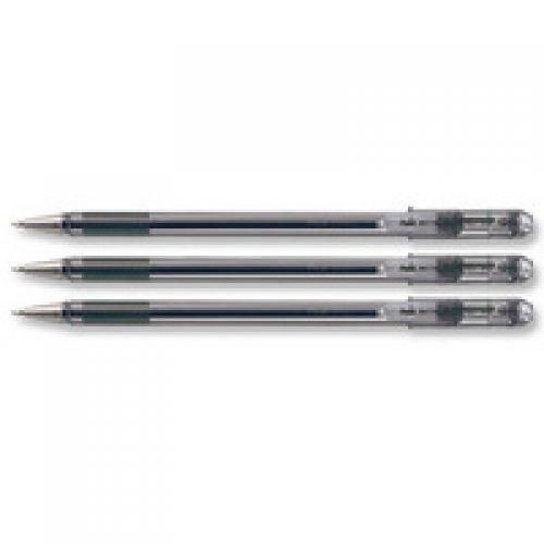 Pentel Superb Ballpoint Pen 0.7mm Tip 0.25mm Line Black Ref BK77-A [Pack 12]