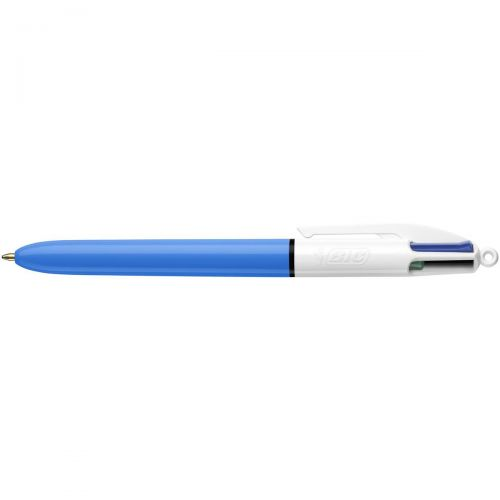 Bic 4-Colour Ball Pen 1.0mm Tip 0.3mm Line Blue Black Red Green Ref 802077/801867 [Pack 12]