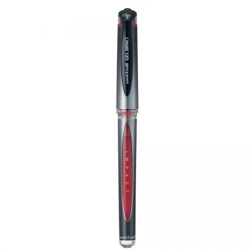 Uni-ball UM153S Impact Gel Rollerball 1.0mm Tip 0.8mm Line Red Ref 744797000 [Pack 12]