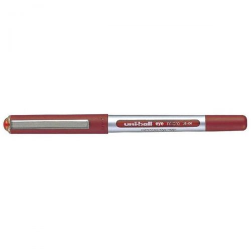Uni-ball Eye UB150 Rollerball Pen Micro 0.5mm Tip 0.2mm Line Red Ref 162560000 [Pack 12]
