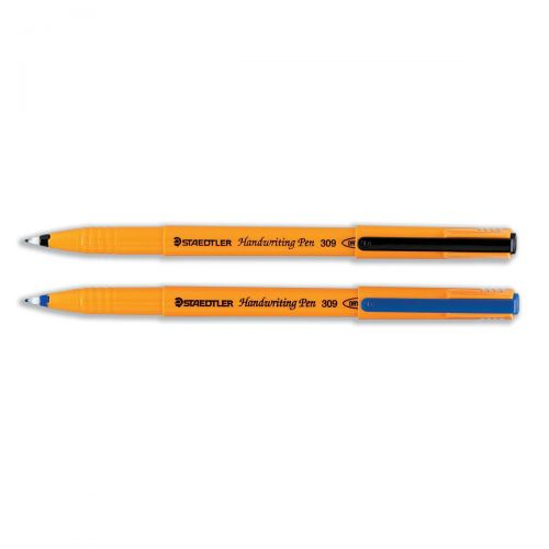 Staedtler 309 Handwriting Pen Fibre Tipped 0.8mm Tip 0.6mm Line Black Ref 309-9 [Pack 10]