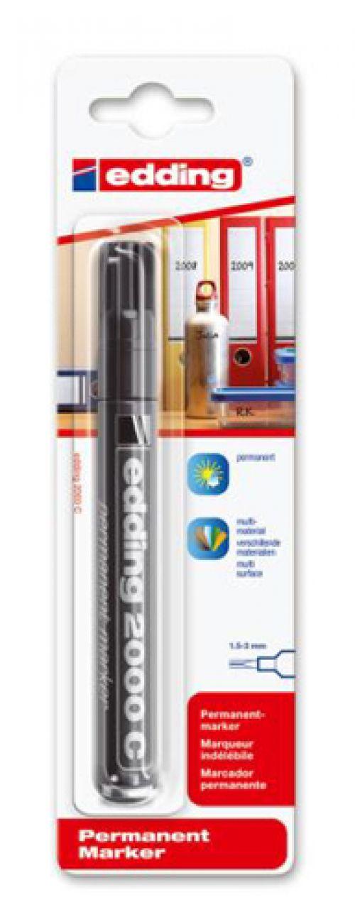 Edding 2000C Permanent Marker Bullet Tip 1.5-3mm Line Black Ref 4-2000C001 [Pack 10]